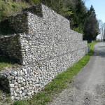 Mur gabions, Etat de Vaud – Premier